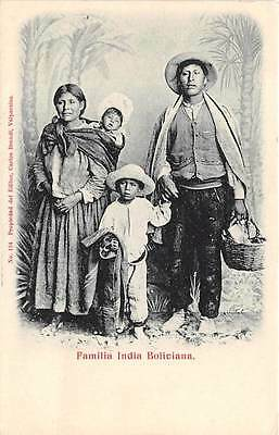BOLIVIA ~ INDIAN FAMILY, POSED IMAGE ~ c. 1902