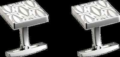 MENS CARTIER STERLING SILVER DOUBLE C CUFF LINKS WITH BOX/Brand New