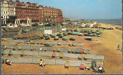 Bexhill-on-Sea, E Sussex - East Beach, windbreaks - Photo Precision c.1960s