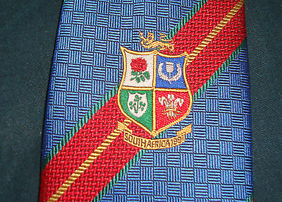 British Lions Tie South Africa 1995 100% Silk Rare And Highly Collectible