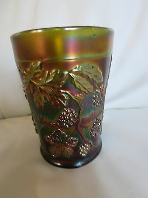 Vintage Carnival Floral & Grape Tumbler in green -REDUCED