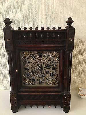 Magnificent  And Extremely Rare Mahogany Cased Bracket Clock By Andreas Peter