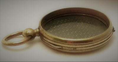 Antique Mourning Hair Locket Rolled Gold? Victorian Edwardian