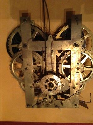antique 8 day clock works