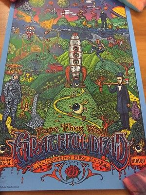 grateful dead fare thee well poster David Welker 2015 Chicago 7/3-7/5 LE X/2015