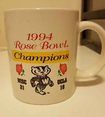 Souvenir Coffee Mug from Wisconsin Badgers Rose Bowl 1994