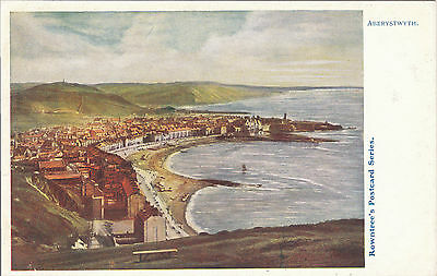 General View, ABERYSTWYTH, Cardiganshire - Rowntree's Postcard Series