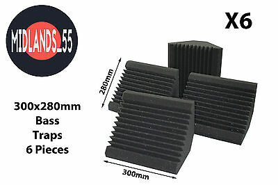 6 Professional Acoustic Foam (300mm) Bass Traps Sound Treatment BT300