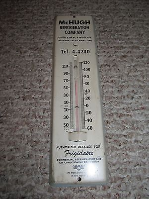 Vintage White McHugh Refrigeration Company Frigidaire Thermostat Thermometer Old