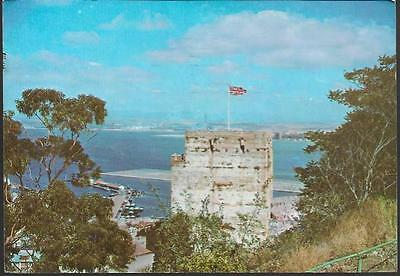 Gibraltar - Moorish Castle - postcard, stamp, 1979