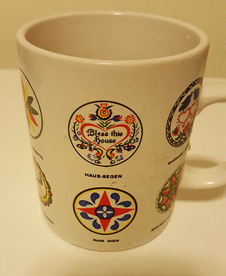 Souvenir Coffee Mug Pennsylvania Dutch Hex Signs