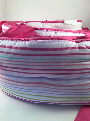 Pottery Barn Kids Rainbow Crib Bumper NEW Out Of Package