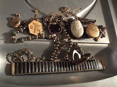 Vintage Gold Tone Jewelry for Scrap Recovery 88.2 Grams