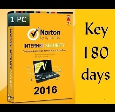 Norton Internet Security 2016 - 1 PC 180 Days License Activation Code