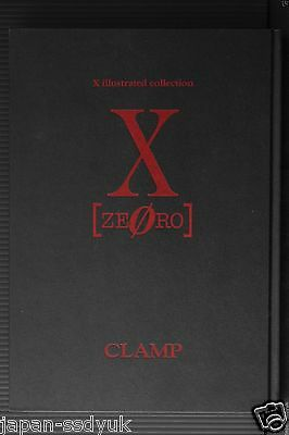"""CLAMP X Illustrated Collection """"X Zero"""" Japan art book 2000 OOP"""