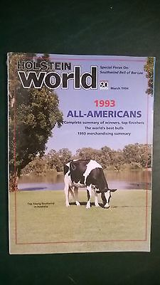 """Holstein World 1993 The """"southwind"""" Issue +Worlds Best Bulls +1993 All-Americans"""
