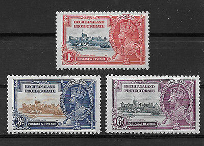 Bechuanaland Protectorate , Silver Jubilee , 1935  , Set Of 3 , Perf , Vlh