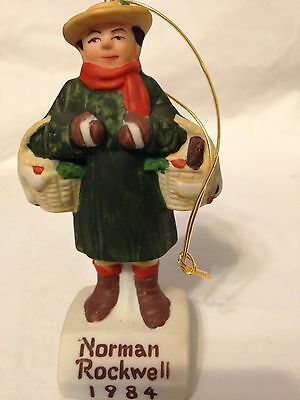 Norman Rockwell 1984 Man Carrying Baskets Saturday Evening Post Ornament