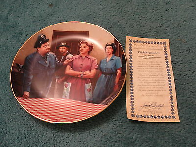 "Hamilton Collectors Plate-""The Honeymooners"" Plate #1 in series"