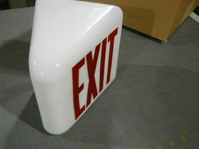 Vintage Glass Kopp Wall Mount Exit Sign - Theater Light Globe - 2-Sided