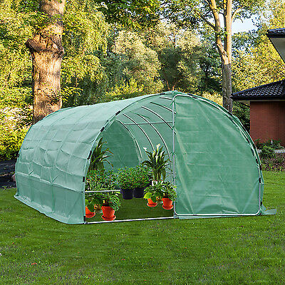 20' × 10' Strengthen Steel Dome Walk-In Greenhouse Garden Plant Shed Grow Tent