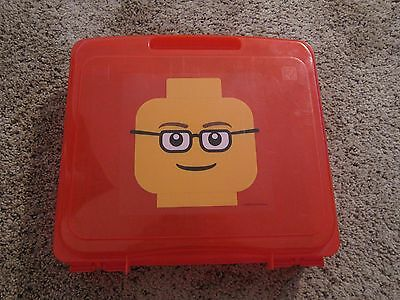 red LEGO Project Case container 13 x 12 x 3 inches