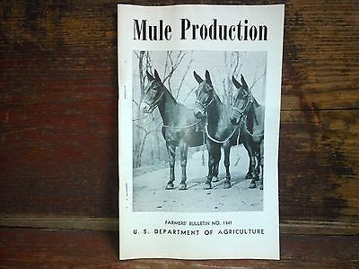 Mule Production Farmer's Bulletin No. 1341 U.S. Department of Agriculture (1949)