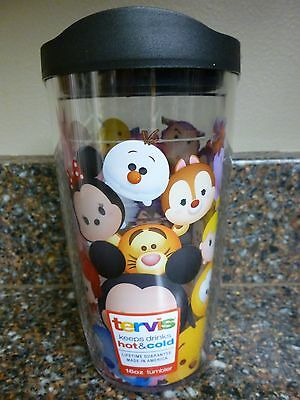 Disney Tsum Tsum Tervis Hot or Cold Cup 16 oz Tumbler Sliding Lid Brand New