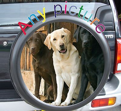 Personalised Spare Wheel Cover 4x4 Graphic Sticker YOUR PHOTO Laminated
