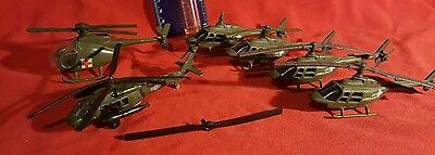 Ertl Military Helicopter Vehhicles Plus More Lot Of 6