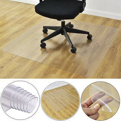120x120cm Frosted Floor Carpet Protector Mat Office Chair PVC Plastic Non Slip