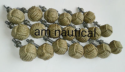 Lot-50-Monkey-Fist-Jute-Rope-Shelves-Cabinet-Drawer nautical decore gift item