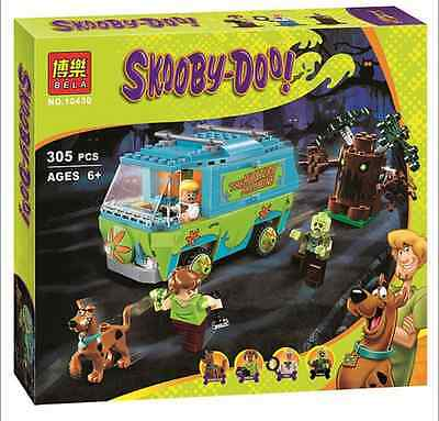Scooby Doo Mystery Machine Bus Building Blocks Minifigurine Toys