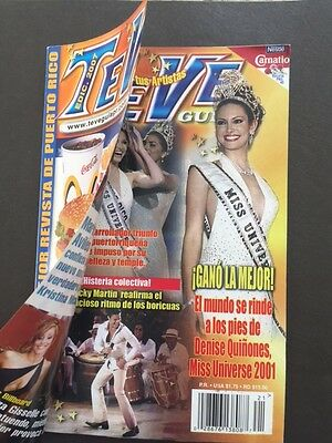 2001 MISS UNIVERSE -  TeVe GUIA -Special Crowning Issue