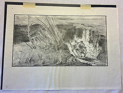 1952 Orig Pencil Drawing Storyboard + Negative THE LEGEND OF THE LONE RANGER #5