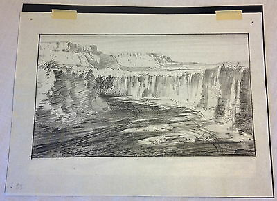 1952 Orig Pencil Drawing Storyboard + Negative THE LEGEND OF THE LONE RANGER #1