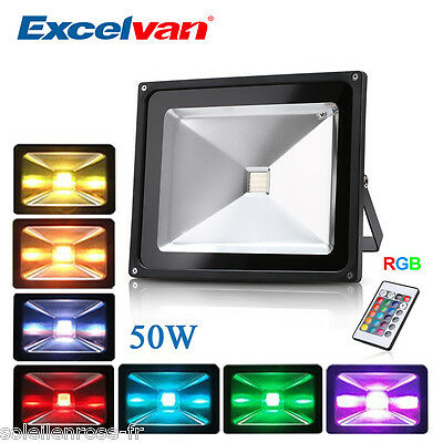 50W RGB LED Flood Light Spotlight 16 Colour Changing for Home Garden Hotel USA
