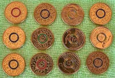2016 $2 Rio Olympic and Paralympic Coins (12)