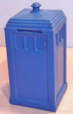 Rare DR WHO Plastic TARDIS Moneybox by RAPHAEL LIPKIN - Doctor Who OLD 1960s