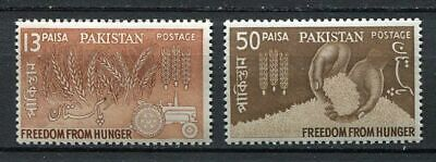 29754) PAKISTAN 1963 MNH** Nuovi** Fight against hunger 2v