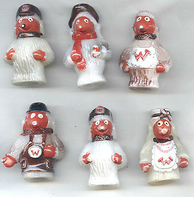 The WOMBLES Plastic Pencil Toppers x6 OLD VGC