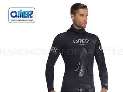 OMER BLACKMOON GIACCA 5mm SIZE 5 WETSUIT JACKET OPENCELL CAMOUFLAGE MUTA