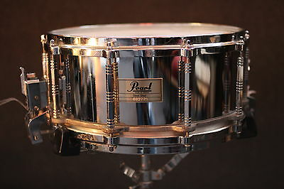 """Pearl Steel Free Floater - 14x6.5"""" Great sounding 80's Rock band Snare drum"""