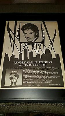 Jean Michel Jarre Live In Houston Rare Original Radio Promo Poster Ad Framed!
