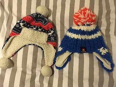 Woolly Snow/winter/Xmas Hats Size 2-3 Yr John Lewis And Quicksilver