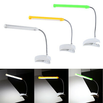 Eco-friendly USB LED Light Clip-on Clamp Bed Study Desk Reading Learning Lamp HG