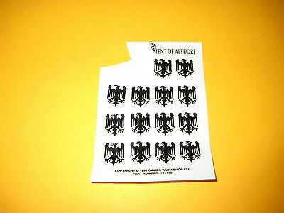Warhammer Fantasy - Imperium - Regiment of Altdorf - Decals - Transfer Sheet