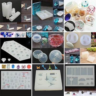21 Style 3D Silicone Mold Mould For Resin Jewelry Making Decorating Tool Craft
