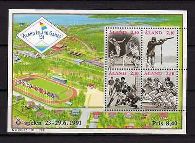 13818) ALAND 1991 MNH** S/S Island Games: Soccer
