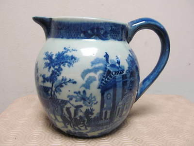 Victoria Ware Ironstone Vintage Large Pitch Jug Flow Blue